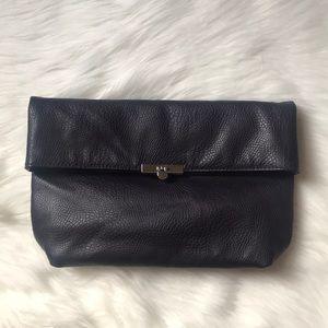 Handbags - Purple Faux Leather Purple Flap Clutch